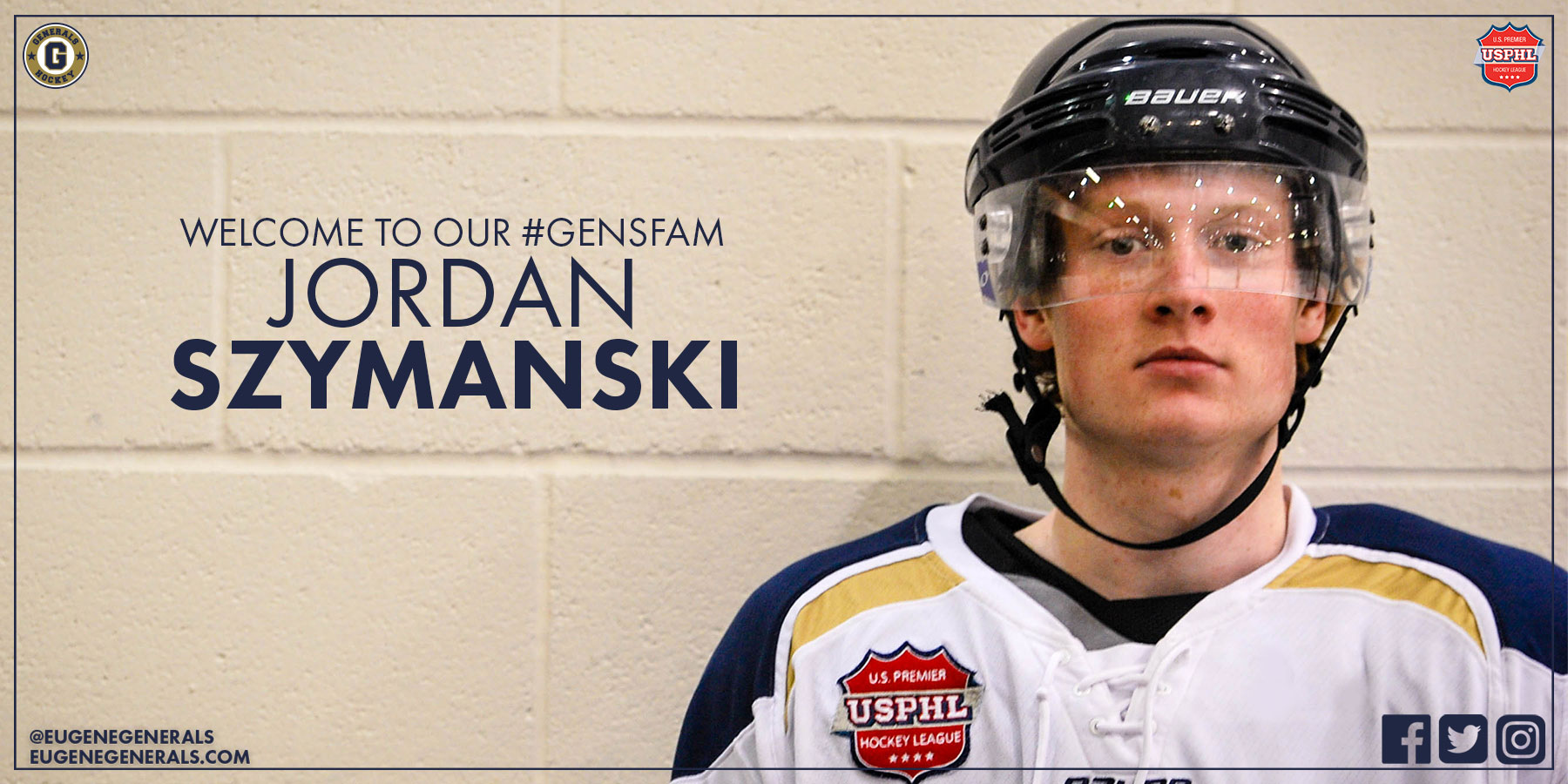 Generals Add Defenseman Jordan Szymanski